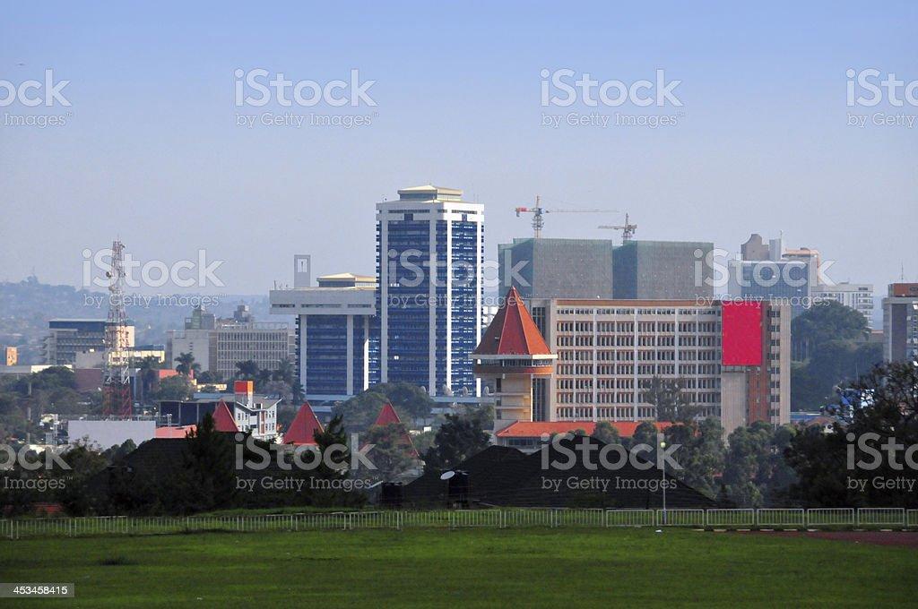 Uganda - Kampala city view stock photo