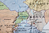 Uganda map. Source: \