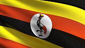 High quality map of Uganda