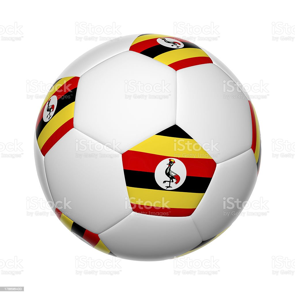 Uganda soccer ball stock photo