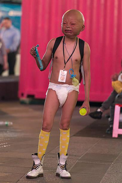 Ugly Baby stock photo