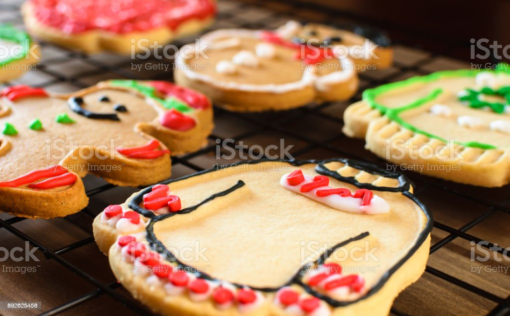 Ugly Christmas Sweater Cookies Background Stock Photo Download