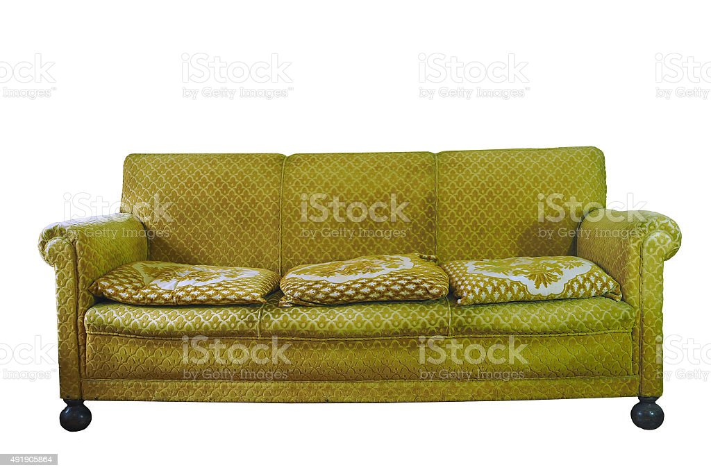 Ugly couch stock photo