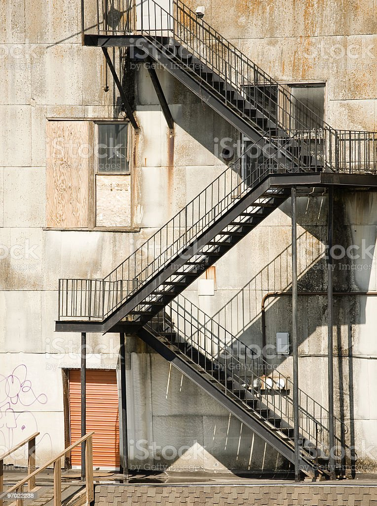 Ugly Fire Escape stock photo