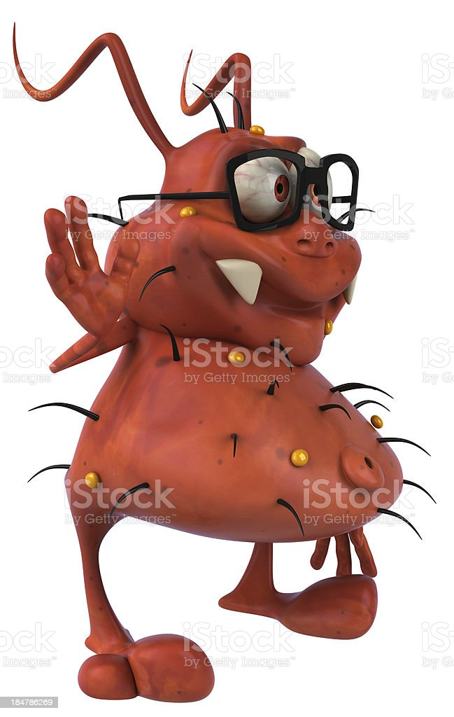 Ugly germ royalty-free stock photo
