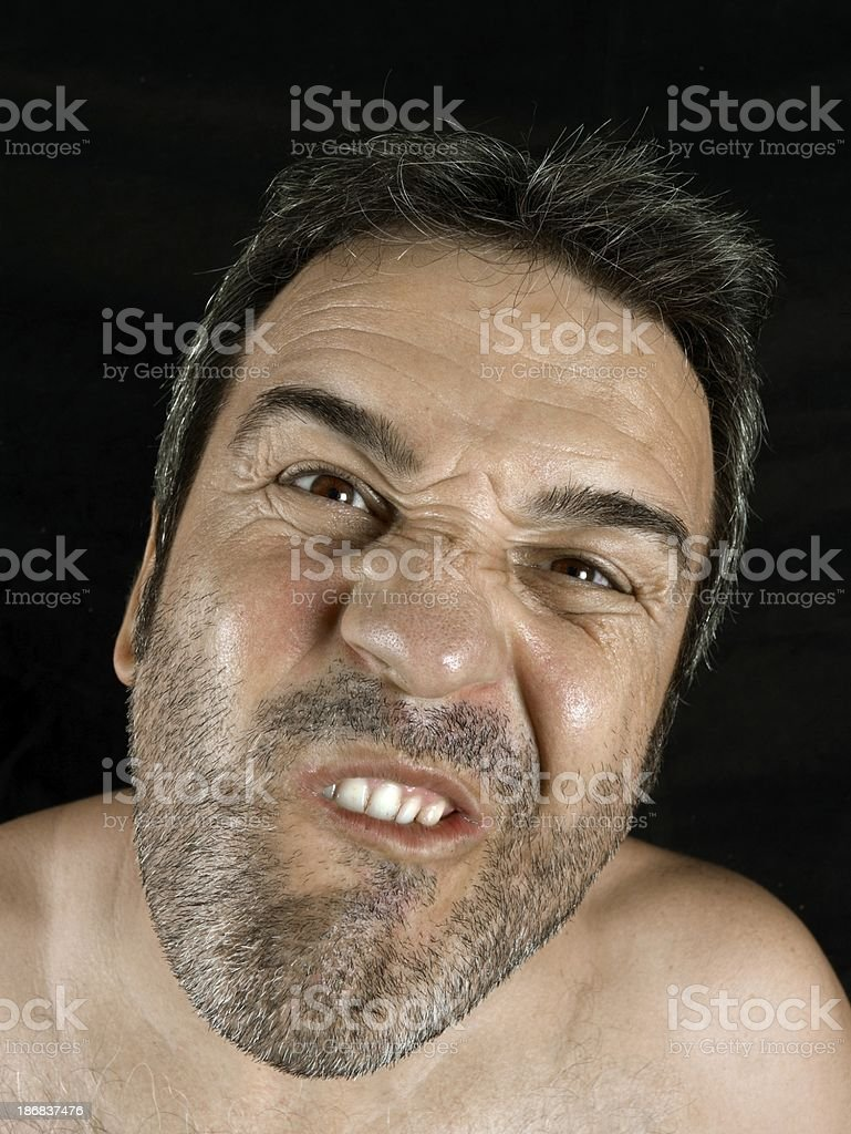 Ugly man royalty-free stock photo