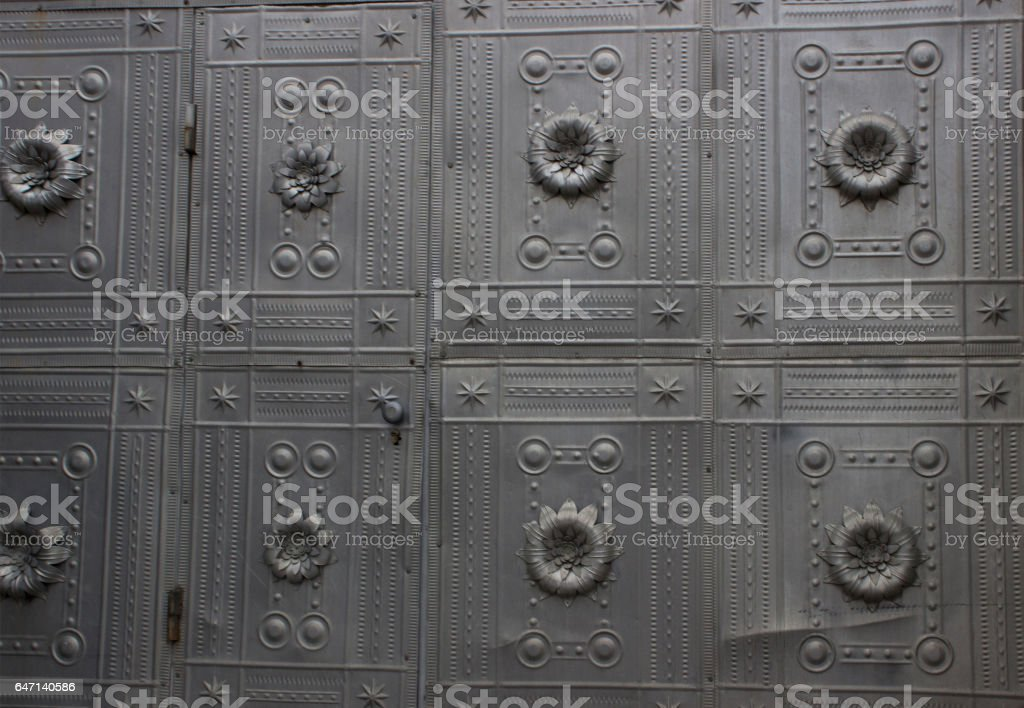 Ugly metal wall can use for background stock photo
