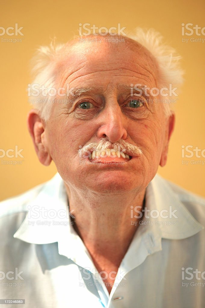 ugly old man stock photo