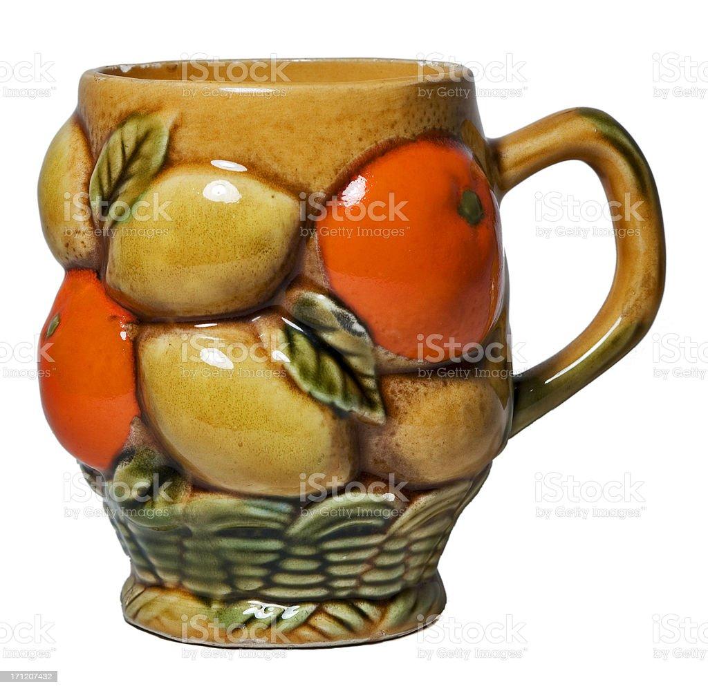 Ugly orange coffee mug. royalty-free stock photo