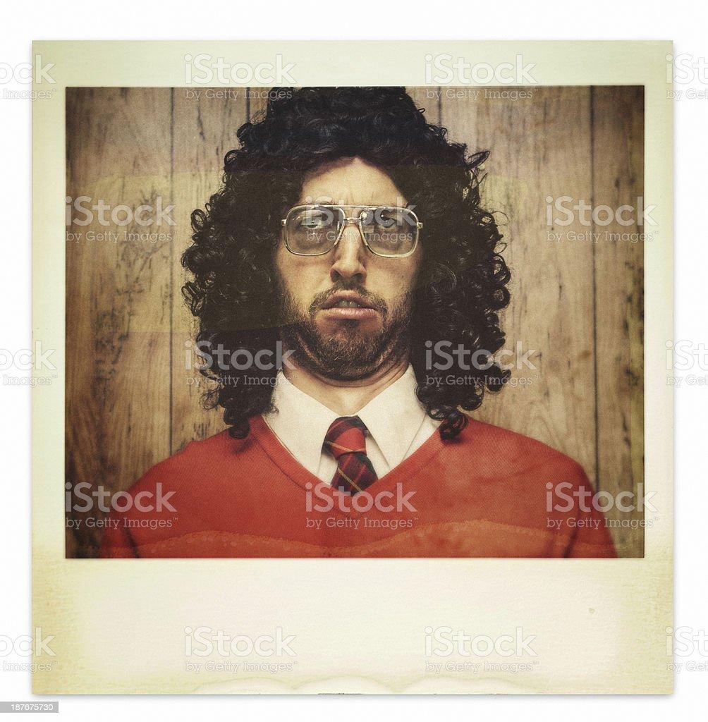 Hässlich Dauerwelle Guy Polaroid-Foto – Foto