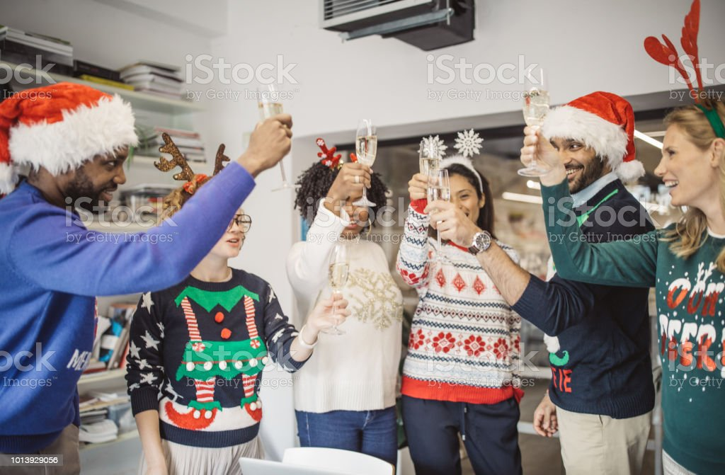 Ugly Sweater Day In Office Stock Photo More Pictures Of Adult Istock
