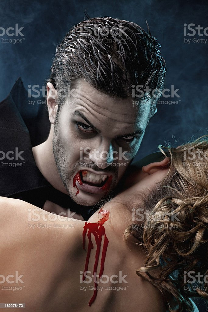 Image result for A VAMPIRE BITING A WOMAN