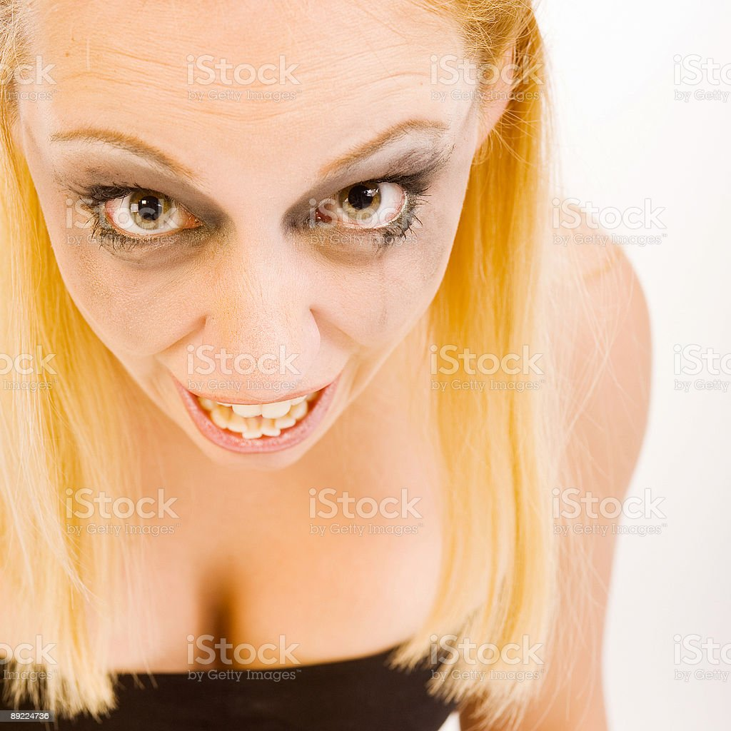Ugly woman royalty-free stock photo