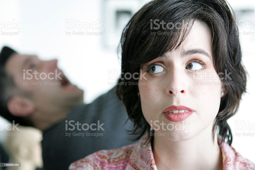Uh-Oh.. Accidents in the home! stock photo