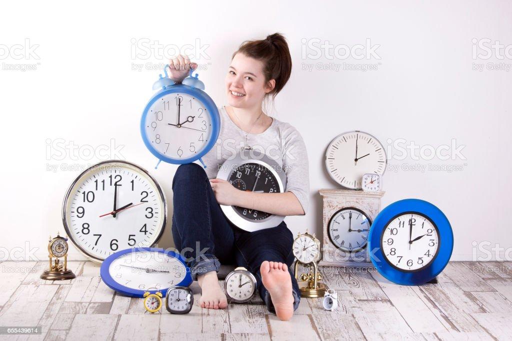 Uhrenumstellung auf Sommerzeit stock photo