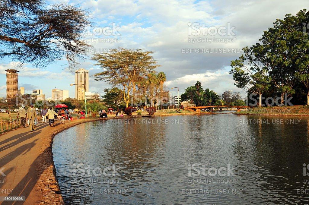 Uhuru Park, Nairobi, Kenya stock photo