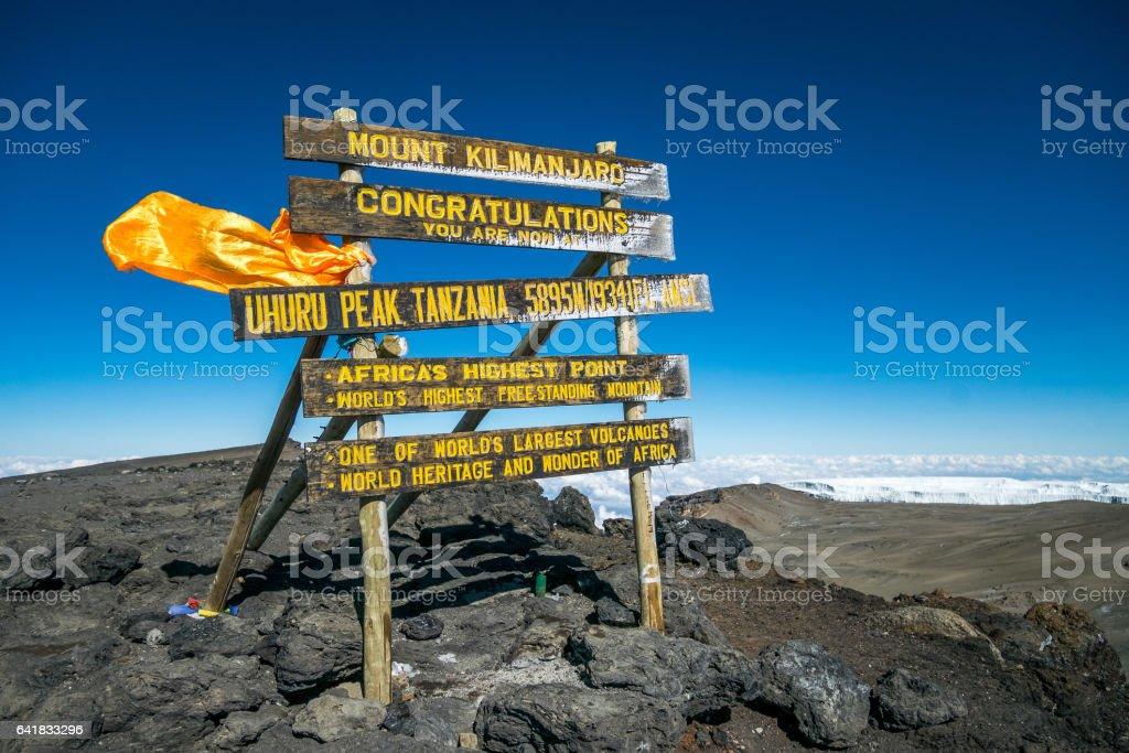 Uhuru Peak, Mount Kilimanjaro, stock photo