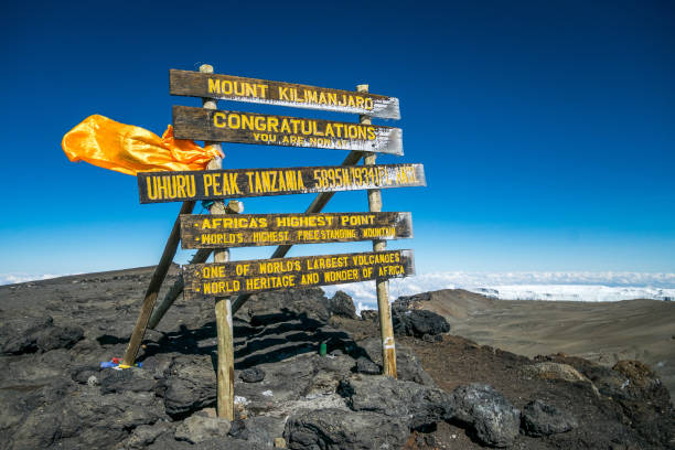 Uhuru Peak, dem Kilimandscharo, – Foto