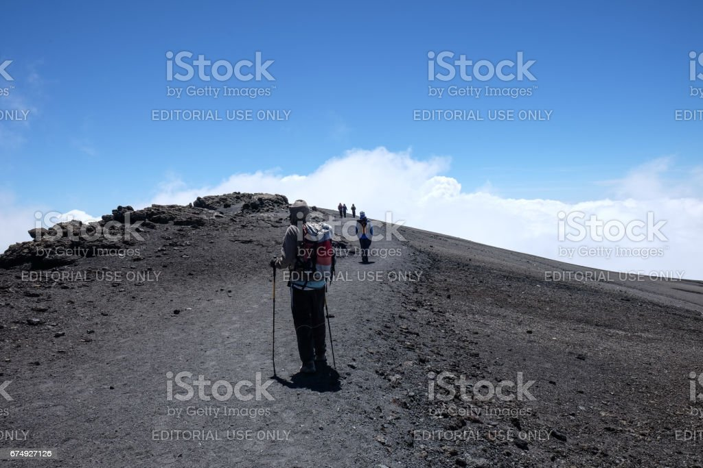 Uhuru Peak royalty-free stock photo