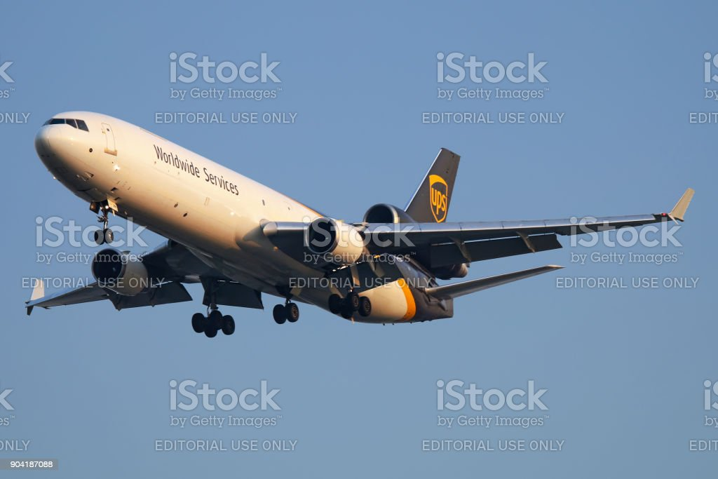 UPS Uinted Parcel Service aircraft stock photo