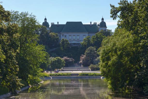 Ujazdów Castle in Warsaw stock photo