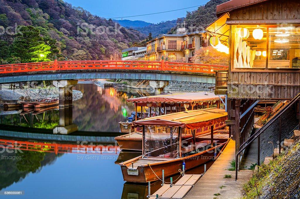 Uji River in Kyoto Japan stock photo
