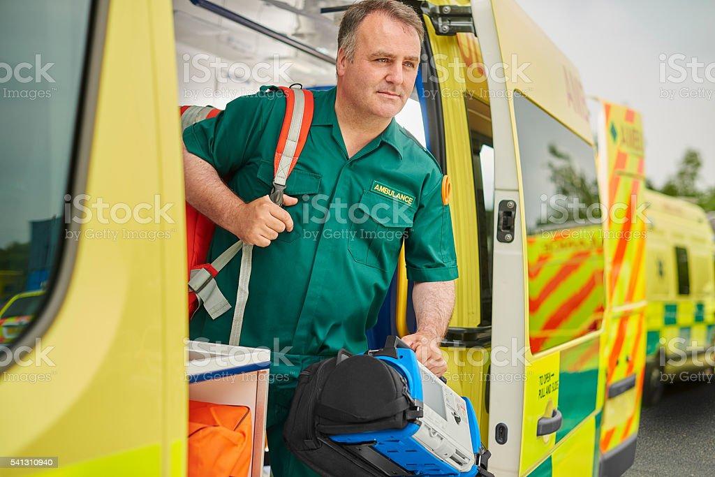 uk ambulance paramedic stock photo