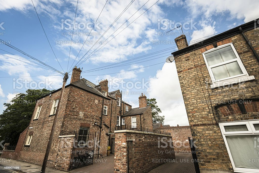 Uk british facade of brick house royalty-free stock photo