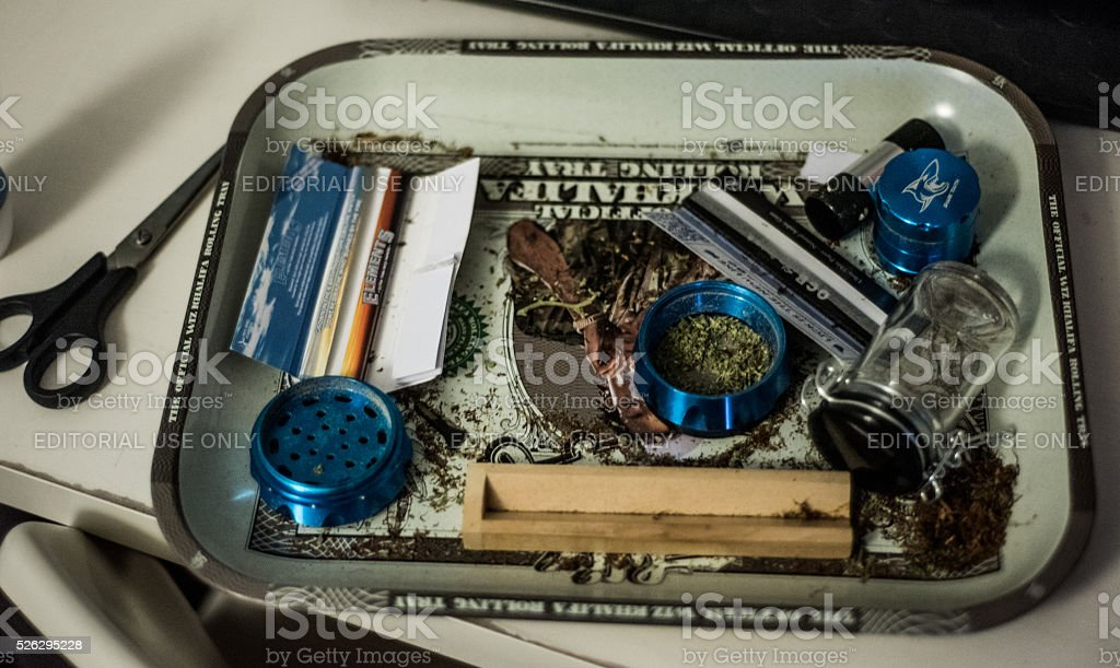 Uk illegal drug culture (Cannabis) stock photo