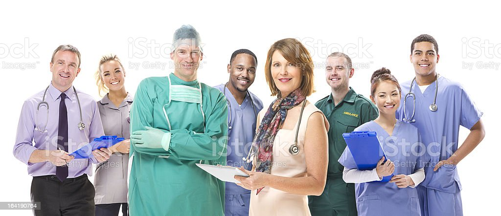 uk medical team royalty-free stock photo