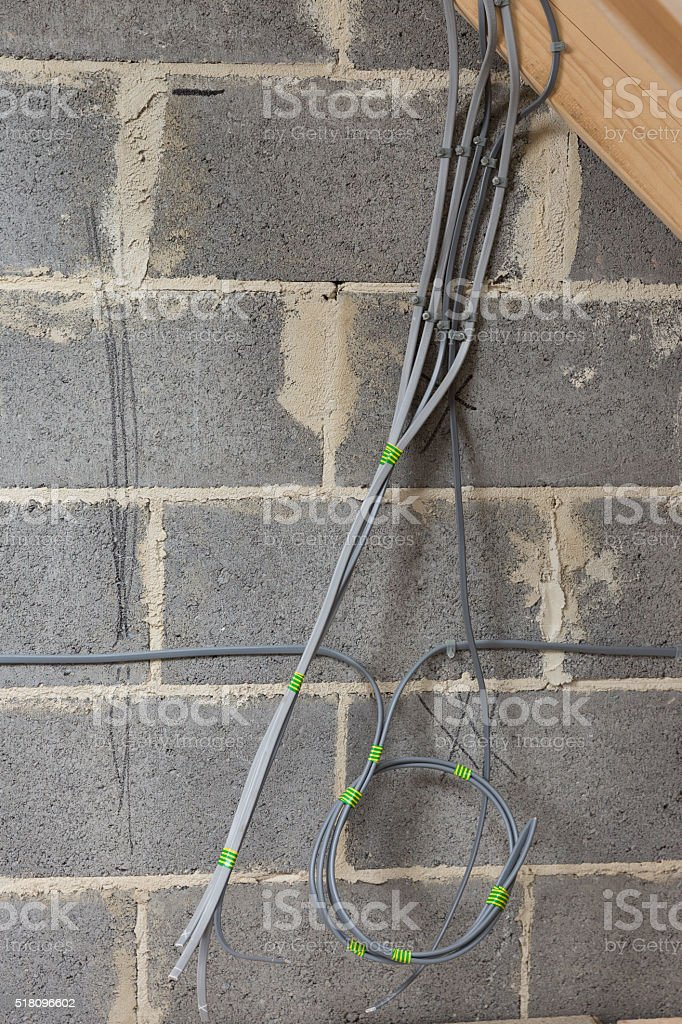 Uk New Build Domestic House Installation Electrical Cable Wiring ...