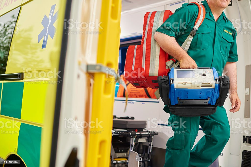 uk paramedic stock photo