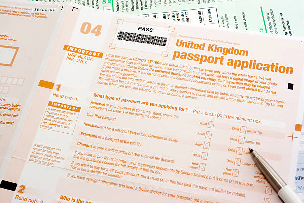 Royalty Free Uk Passport Application Form Pictures Images And Stock