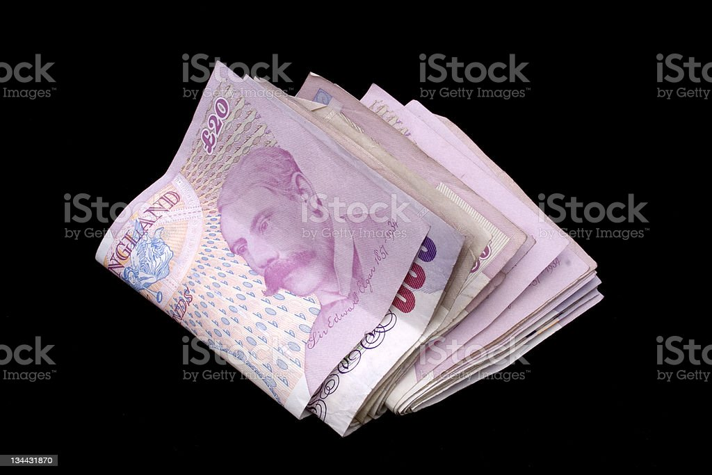 uk pounds sterling money 20 notes great britain 02 royalty-free stock photo