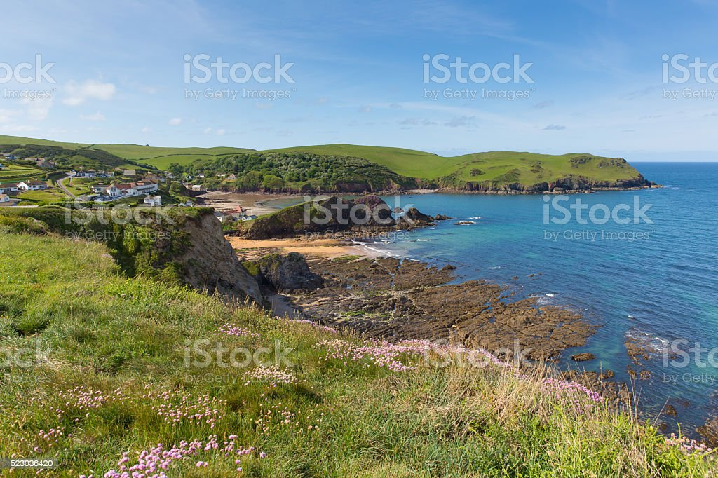 Uk south coast Hope Cove Devon near Salcombe in summer stock photo