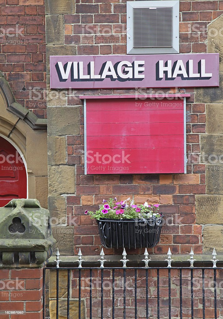 uk village hall. royalty-free stock photo