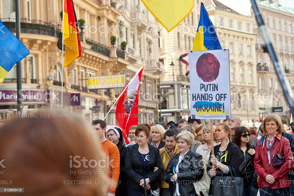 Ukraine and Russia Protests stock photo