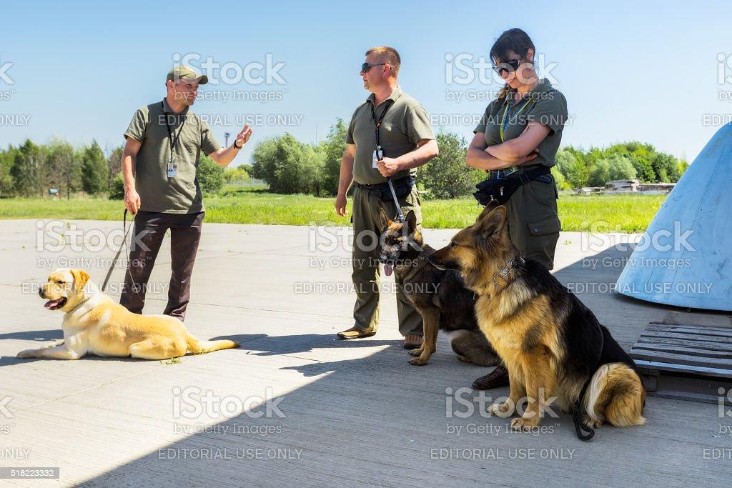 Ukraine, Borispol.  Dog Service Boryspil International Airport stock photo