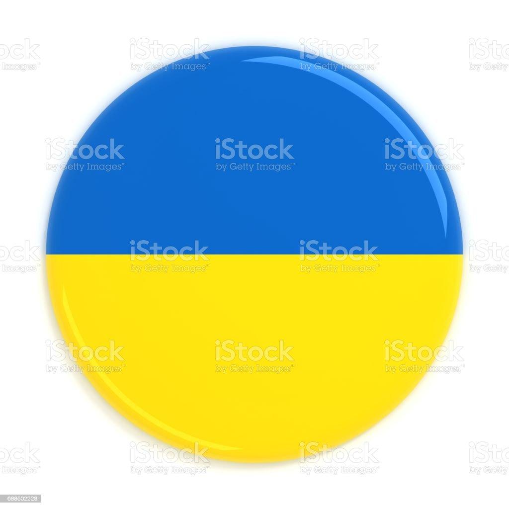 Ukraine flag badge stock photo