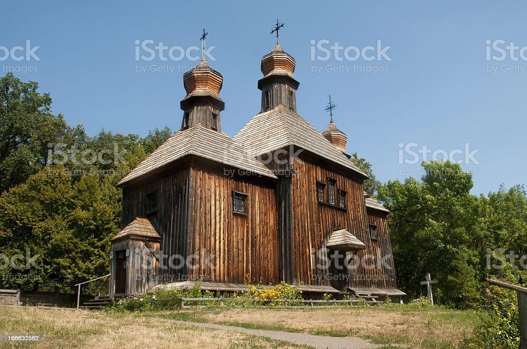 Ukraine, Kiev, Museum Pirogovo, Church of St. Michael the Archangel. royalty-free stock photo