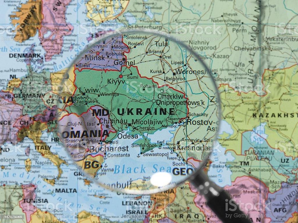 ukraine map stock photo