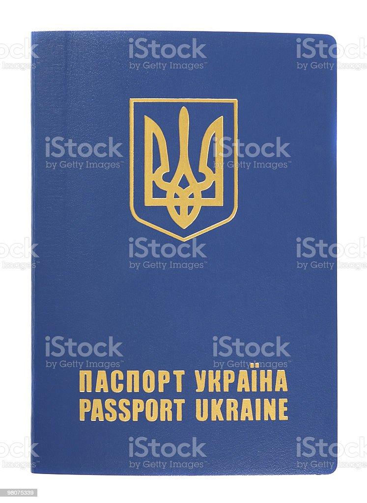 Ukraine passport stock photo