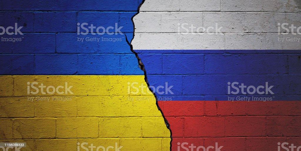 Ukraine vs Russia - Royalty-free Agreement Stock Photo