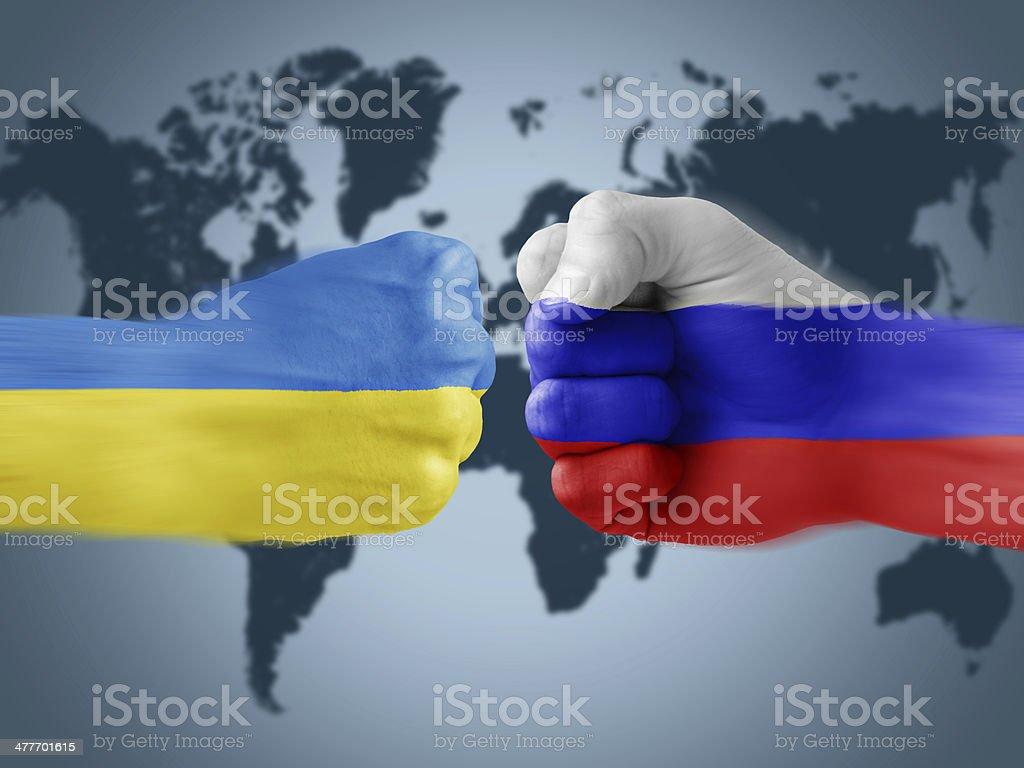 ukraine x russia stock photo