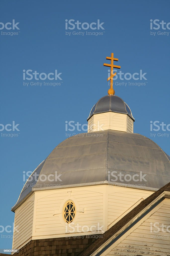 Ukrainian Catholic Church Steeple royalty-free stock photo