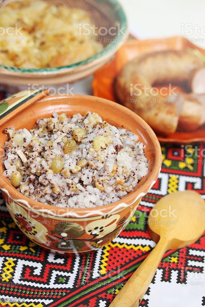 ukrainian Christmas kutia dish royalty-free stock photo
