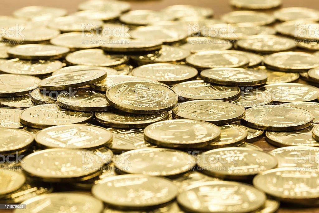 Ukrainian coins royalty-free stock photo