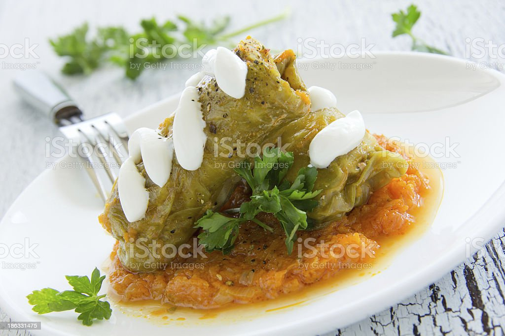 Ukrainian dish 'stuffed.' royalty-free stock photo