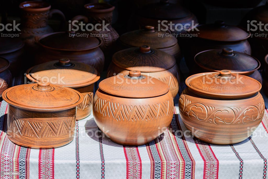 Ukrainian dishes of ceramics royalty-free stock photo