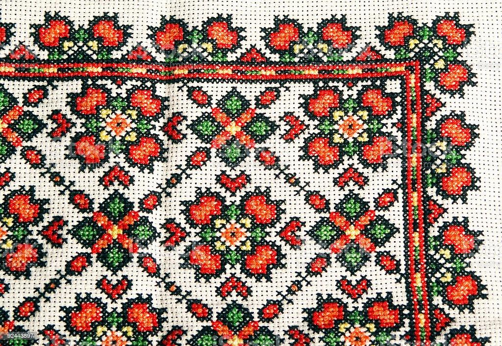 Ukrainian Embroidery stock photo